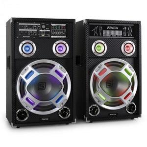 Skytec KA-12 aktív karaoke PA hangfal szett, USB, SD, AUX kép