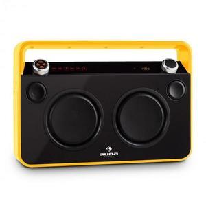 Auna Bebop Ghettoblaster, sárga, USB bluetooth AUX MIC kép