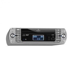Auna KR-400 CD, konyhai rádió, DAB+/PLL FM rádió, WiFi, CD/MP3-lejátszó, ezüst kép