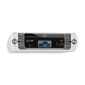 Auna KR-400 CD, konyhai rádió, DAB+/PLL FMrádió, WiFi, CD/MP3-lejátszó, fehér kép