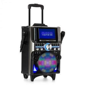 Auna DisGo Box 360, BT karaoke rendszer, 2 mikrofon, HDMI, BT, LED, USB, kerekek, fekete kép