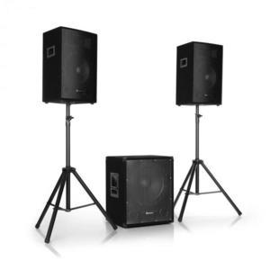 """Auna Pro Cube 1512, 2.1 aktív PA készlet, 1200 W, 15"""" subwoofer, 2 x 12"""" hangfal kép"""