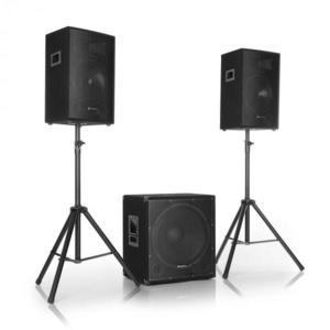 """Auna Pro Cube 1812, 2.1 aktív PA készlet, 1600 W, 18"""" subwoofer, 2 x 12"""" hangfal kép"""