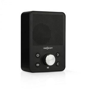 OneConcept Plug+Play FM, aljzatba szúrható rádió, FM tuner, USB, BT, fekete kép