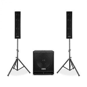 """Vonyx VX880BT, 2.1 aktív hangfal szett, 1000 W, 15"""", 2 x 8"""", USB/SD/MP3/BT kép"""