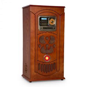 Auna Musicbox, jukebox, lemezjátszó, CD lejátszó, BT, USB, SD, FM tuner, fa kép