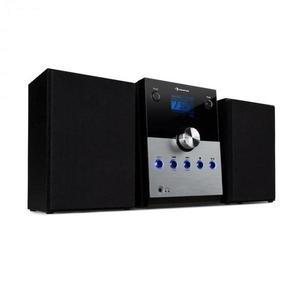 Auna MC-30, DAB mikro sztereó rendszer, 2 hangszóró, DAB+, FM, bluetooth, CD-lejátszó, távirányító, ezüst kép