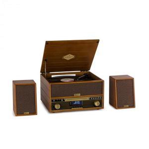 Auna Belle Epoque 1910, retró sztereó rendszer, lemezjátszó, CD-lejátszó, hangfalak kép