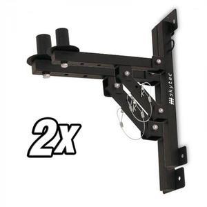 Skytec 2 x fali tartó PA hangfalakhoz, állvány, fekete, 50 kg max. kép