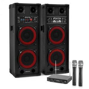 """Electronic-Star Karaoke szettek """"STAR-Köpenick"""" , SPB-28 PA Aktív/Passzív Dual 8"""" PA Hangfalak 8 kép"""