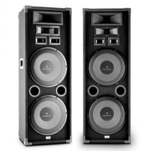 """Auna PA-2200, max. 2000 W, dupla készlet fullrange PA hangfal, 2x12"""", basszus hangszóró kép"""