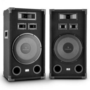 """Auna PA-1200, max. 1000 W, dupla készlet fullrange PA hangfal, 12"""", basszus hangszóró kép"""