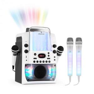 Auna Kara Liquida BT karaoke rendszer, szürke + Dazzl karaoke mikrofon készlet, LED megvilágítás kép