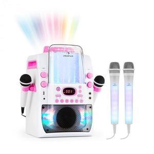Auna Kara Liquida BT karaoke rendszer, rózsaszín + Dazzl karaoke mikrofon készlet, LED megvilágítás kép