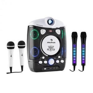 Auna Kara Projectura karaoke rendszer, fekete + Dazzl karaoke mikrofon készlet, LED megvilágítás kép