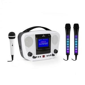 Auna KaraBanga karaoke rendszer + Dazzl mikrofon szett, bluetooth, TFT kijelző kép