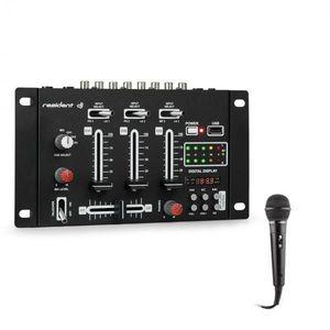Resident DJ DJ-21 BT, keverőpult, bluetooth, USB + mikrofon, fekete kép