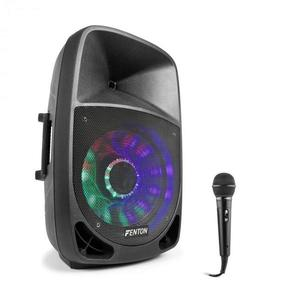 Fenton FT1500A, aktív hangfal, 350 W, bluetooth + mikrofon, fekete kép