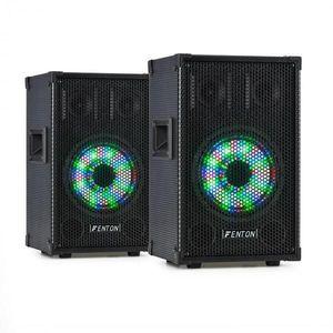 """Fenton TL8LED, szett, 2x3-utas passzív hangfal, RGB-LED, 8"""" woofer 400 W kép"""