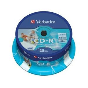 CD-R Verbatim DL+ 80min Printable SPINDL kép