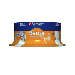 DVD-R Verbatim 4, 7GB 16x Printable SPINDL kép