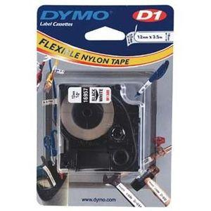 Dymo D1 16957, S0718040, 12mm x 3, 5 m, fekete nyomtatás / fehér alapon, eredeti szalag kép