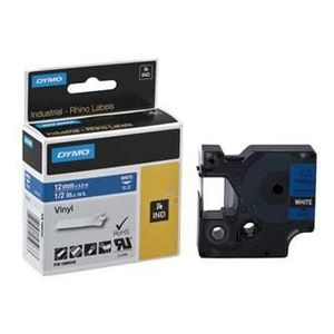 Dymo Rhino 1805243, 12mm x 5, 5m, fehér nyomtatás / kék alapon, eredeti szalag kép