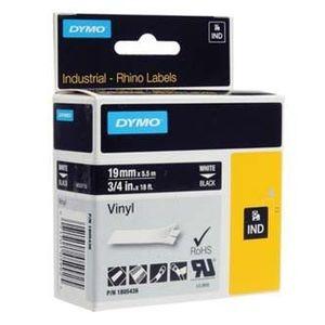 Dymo Rhino 1805436, 19mm x 5, 5m, fehér nyomtatás / fekete alapon, eredeti szalag kép