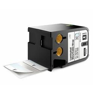 Dymo XTL 1868710, 51mm x 21mm, 250db, fekete nyomtatás / fehér alapon, eredeti szalag kép