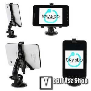 SAMSUNG P1000 Galaxy Tab gépkocsi / autó tartó - BRANDO - (forgatható tapadókorongos szélvédőtartóval) kép