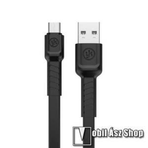 REMAX adatátviteli kábel / USB töltő - microUSB, 1m hosszú, 2.1A - FEKETE - GYÁRI kép