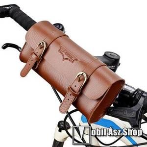 Univerzális fekvő tok, táska, biciklire szerelhető - 220 x 50 x 50 mm - BARNA kép