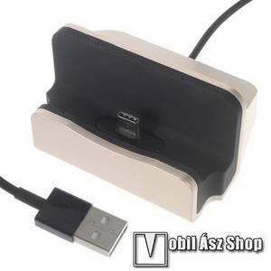 Asztali töltő / dokkoló - adatátviteli állvány, USB 3.1 Type C, 1m-es kábellel - ARANY kép
