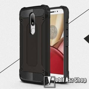 OTT! MAX DEFENDER műanyag védő tok / hátlap - FEKETE - szilikon belső, ERŐS VÉDELEM! - Motorola Moto M kép