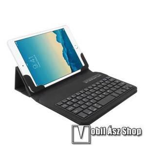 """UNIVERZÁLIS tablet PC flip / mappa bőrtok - 7""""-os készülékekhez, bluetooth billentyűzet, ANGOL KIOSZTÁS! - FEKETE kép"""