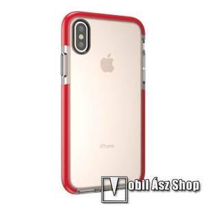 Szilikon védő tok / hátlap - ÁTLÁTSZÓ - APPLE iPhone X / APPLE iPhone XS kép
