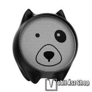 BASEUS Q E06 hordozható bluetooth hangszóró, 3, 5mm AUX, beépített mikrofon, V4.2 - FEKETE - GYÁRI kép