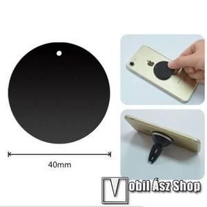 Fémlap mágneses autós tartókhoz - ultravékony 0, 5mm, kör alakú 40mm - FEKETE kép