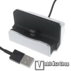 Asztali töltő / dokkoló - adatátviteli állvány, USB 3.1 Type C, 1m-es kábellel - EZÜST kép