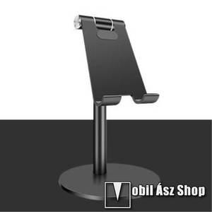 UNIVERZÁLIS alumínium asztali tartó / állvány - függőlegesen 270°-ban állítható, kábelvezető kivágás, csúszásgátló - FEKETE kép