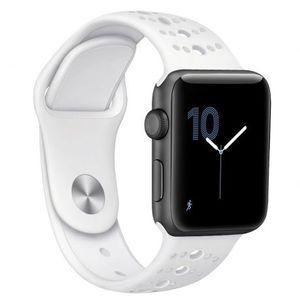 Apple Watch Silicone Sport 42/44mm szíj, White kép