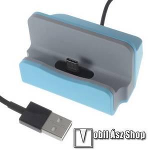 Asztali töltő / dokkoló - adatátviteli állvány, USB 3.1 Type C, 1m-es kábellel - VILÁGOSKÉK kép