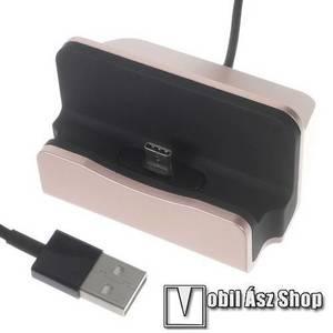 Asztali töltő / dokkoló - adatátviteli állvány, USB 3.1 Type C, 1m-es kábellel - ROSE GOLD kép