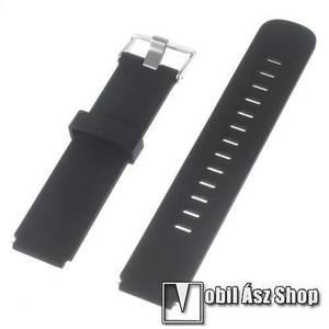 Okosóra szíj - FEKETE - szilikon, 100mm + 97mm hosszú, 18mm széles - HUAWEI Watch kép