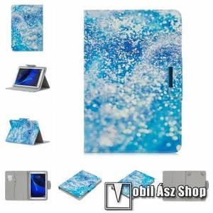 """UNIVERZÁLIS notesz / mappa tablet PC tok - FLITTER MINTÁS - álló, bőr, mágneses, bankkártya tartó, asztali tartó funkciós, 10""""-os készülékekhez kép"""