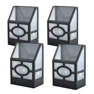 4 db kültéri, fekete, szolár lámpa kép