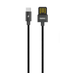 REMAX RC-080a Silver Serpent kábel USB / USB-C 2.1A 1m, fekete kép