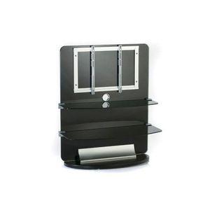 Electronic-Star TV bútor, üveg, 2 emeletes, LCD tartó rack, fekete kép