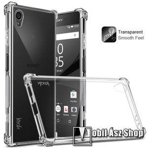 IMAK Smooth Feel szilikon védő tok / hátlap - ÁTLÁTSZÓ - 1, 2 mm vékony, képernyővédő fólia - Sony Xperia XA1 Plus - GYÁRI kép