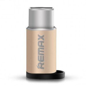 Remax RA-USB2 adapter Micro USB / USB-C, arany kép